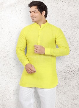 Elegant Light Yellow Pathani Suit