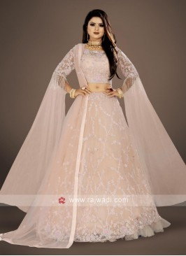 elegant  Misty Rose color lehenga choli suit