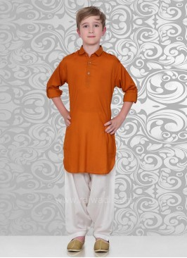 Elegant Orange Pathani Suit for boys