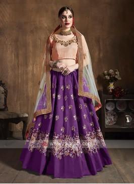 Elegant Raw Silk Lehenga Choli
