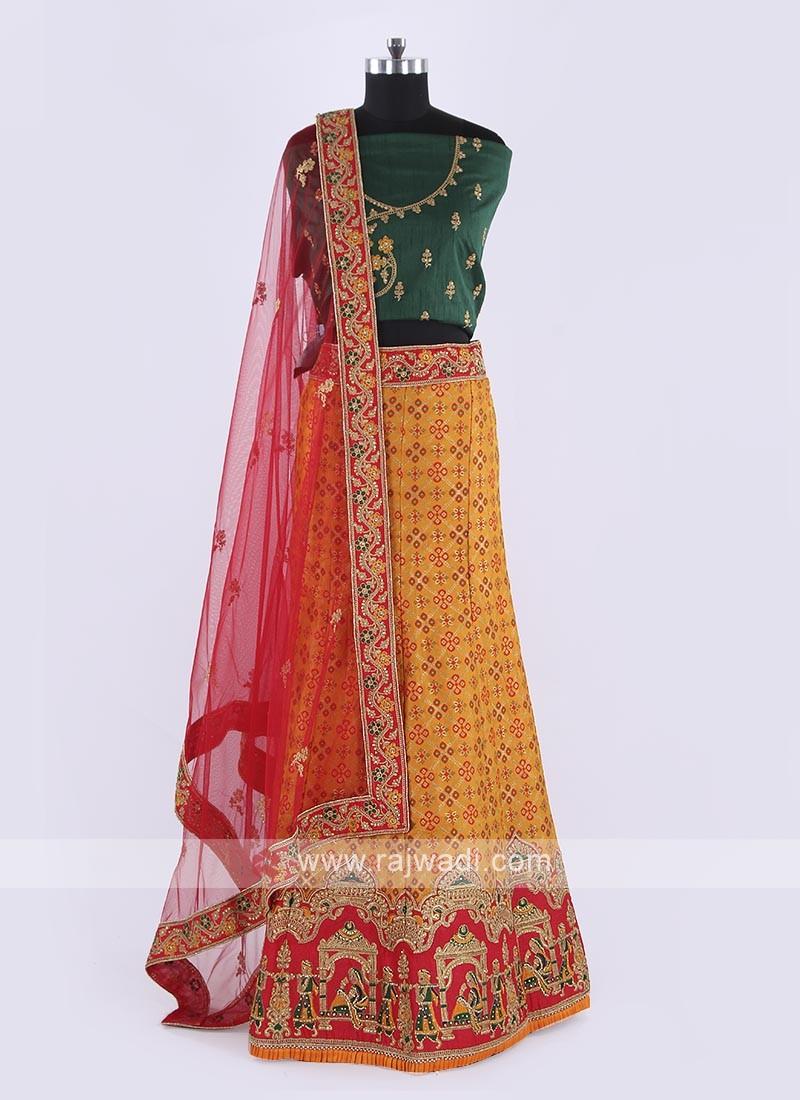Elegant Silk Lehenga Choli