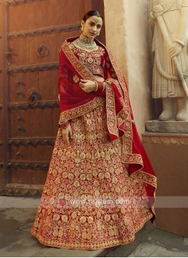 Elegant Velvet Lehenga Choli For Bridal