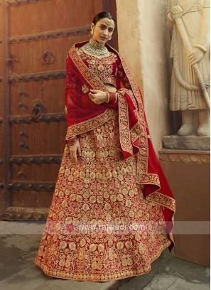 Elegant Velvet Lehenga Choli For Bridal