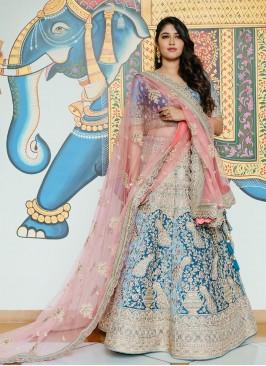 Embellished Velvet Lehenga Choli For Wedding
