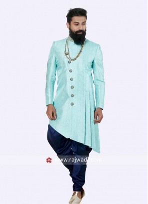 Designer Electric Blue Color Indo Western