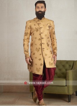 Golden Yellow Indo Western For Wedding