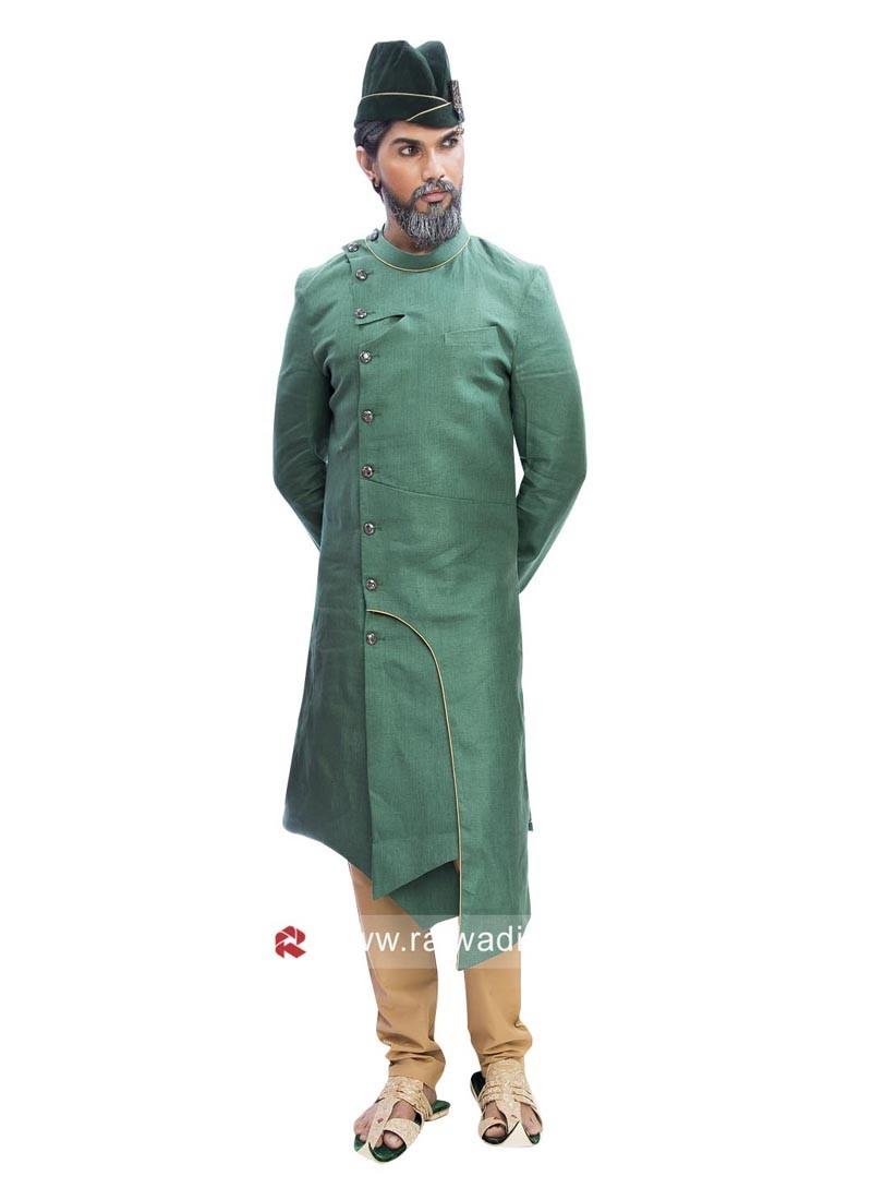 Attractive Green Color Indo Western