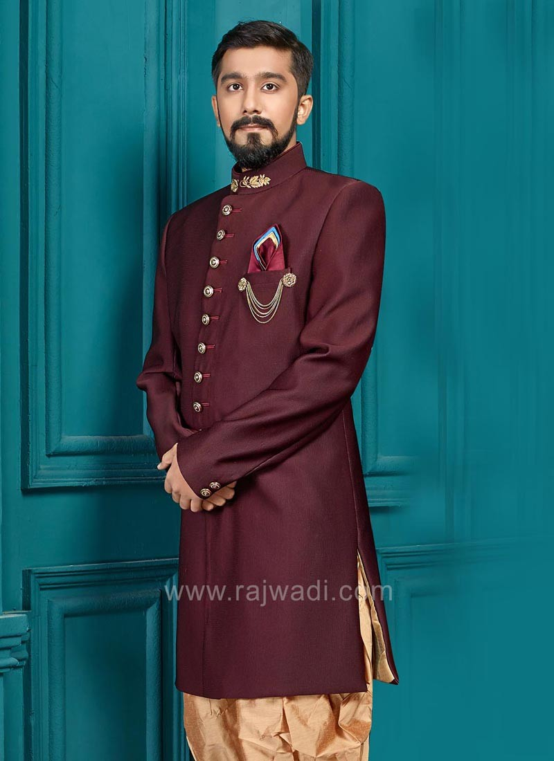 Emboss Fabric Party Wear Indo Western