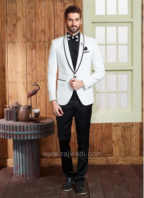 Emboss Fabric Party Wear Suit