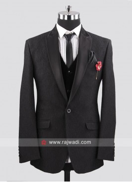 Emboss Fabric Suit For mens