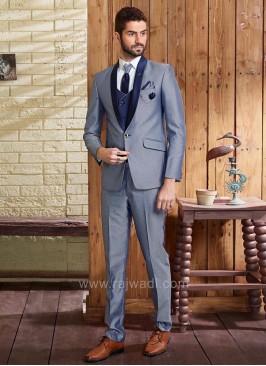 Emboss Fabric Wedding Suit