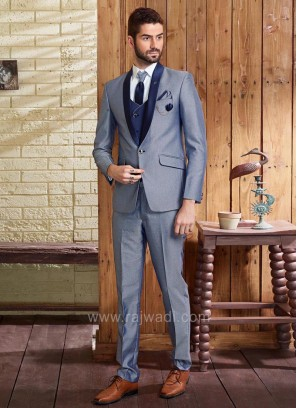 Emboss Fabric Wedding Suit