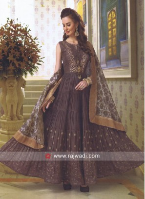 Embroidered Anarkali Salwar Kameez