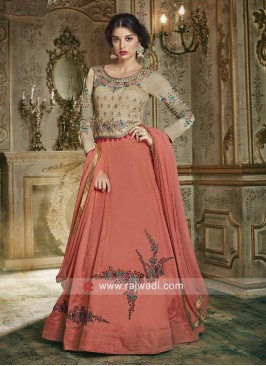 Giselli Monteiro Embroidered Anarkali Suit for Eid
