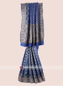 Embroidered Banarasi Silk Saree