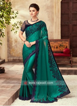 Embroidered Chiffon Silk Saree