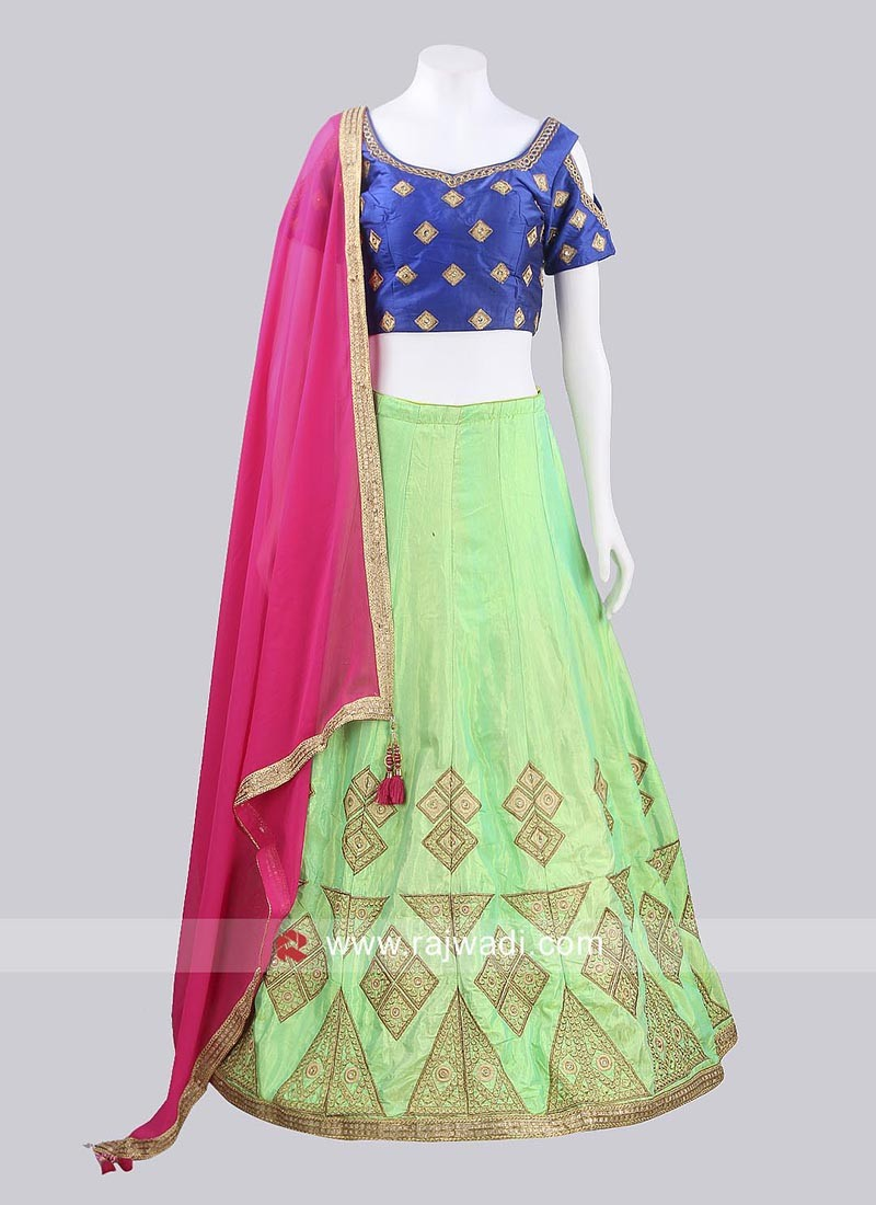 Embroidered Choli Suit