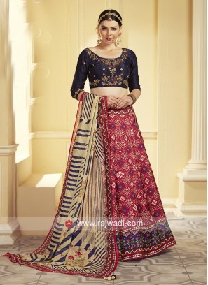 Embroidered Choli Suit with Dupatta