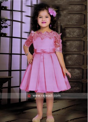 Embroidered Fancy Short Gown for Kids