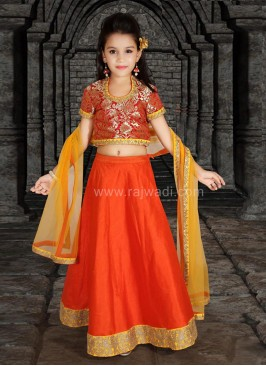 Embroidered Festive Wear Choli Suit
