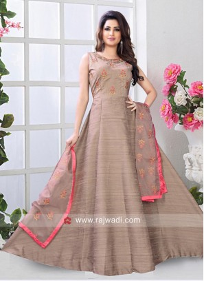Embroidered Floor Length Anarkali Dress