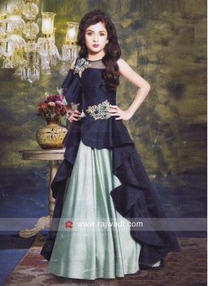 Embroidered Floor Length Gown for Girls