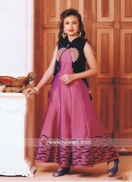 Embroidered Full Length Gown with Koti