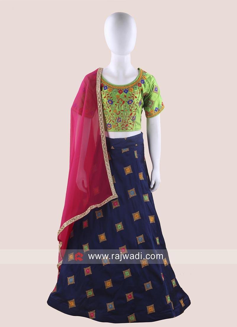 Embroidered Girls Chaniya Choli