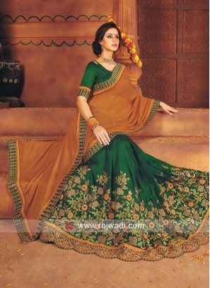 Embroidered Half n Half Saree
