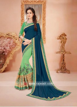 Embroidered Half Saree with Blouse