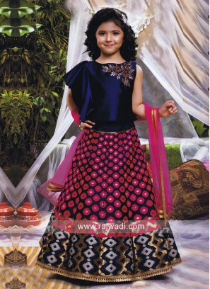 Embroidered Kids Choli Suit