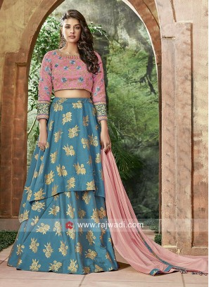 Embroidered Layered Lehenga Choli