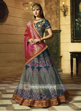 Embroidered Lehenga Choli for Wedding