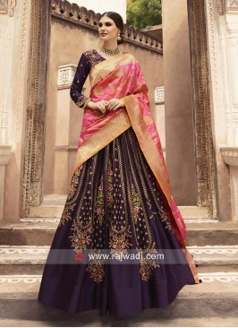 Embroidered Lehenga Choli with Double Dupatta