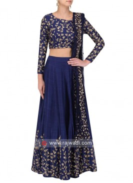 Embroidered Lehenga Choli with Dupatta