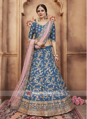 Embroidered Lehenga Choli with Net Dupatta