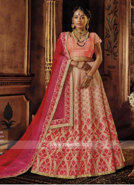 Embroidered Lehenga Choli with Shaded Dupatta