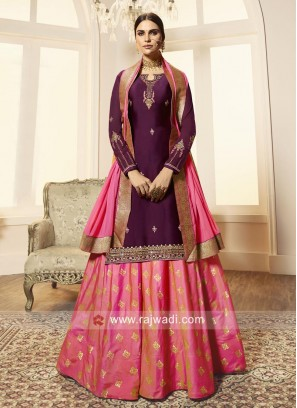 Embroidered Lehenga Salwar Suit