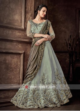 Embroidered Lehenga Set with Dupatta
