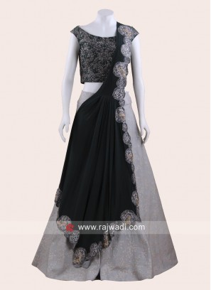Embroidered Lehenga Set with Pre Stitched Dupatta