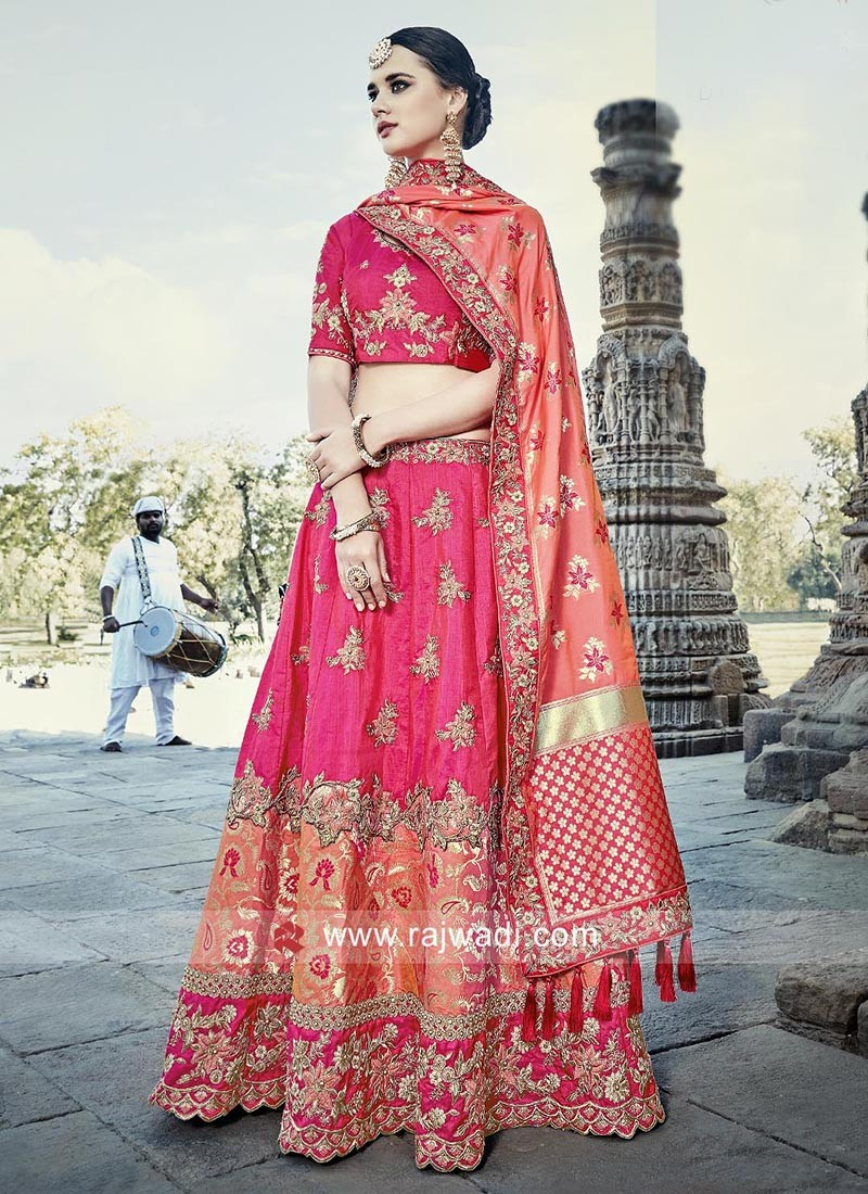 Embroidered Lehenga with Choli and Chunni