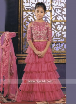 Embroidered Multilayered Lehenga Choli