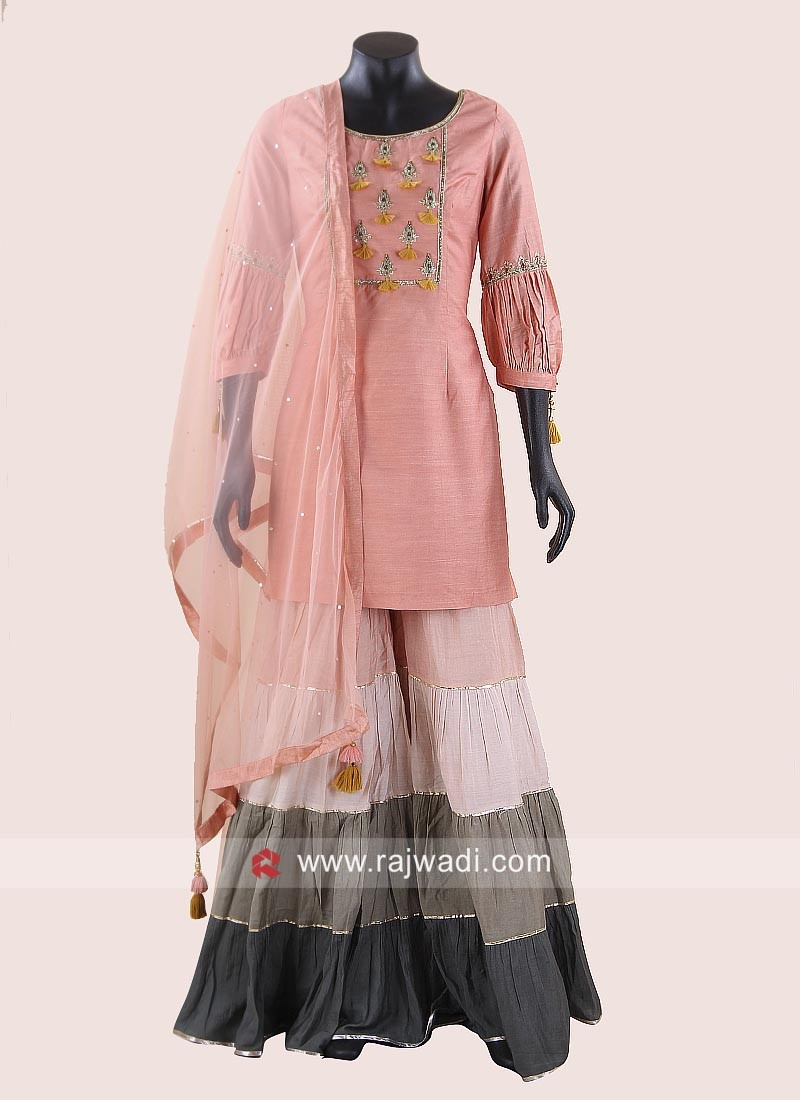 Embroidered Palazzo Suit for Eid