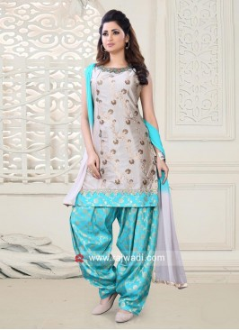 Embroidered Patiala Salwar Kameez