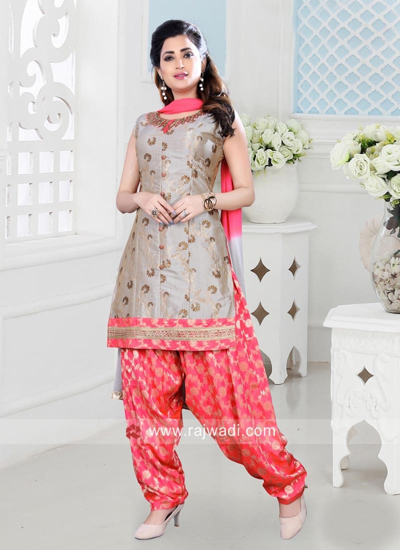 bfdf6c864 Embroidered Patiala Salwar Kameez. Hover to zoom