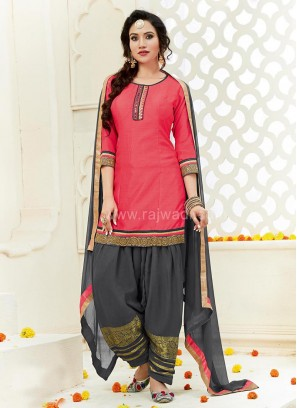 Embroidered Patiala Suit for Party