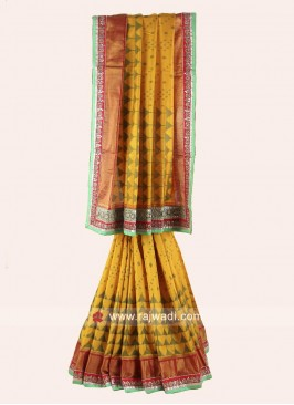 Embroidered Patola Saree with Blouse