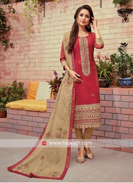 Embroidered Ready Made Salwar Kameez