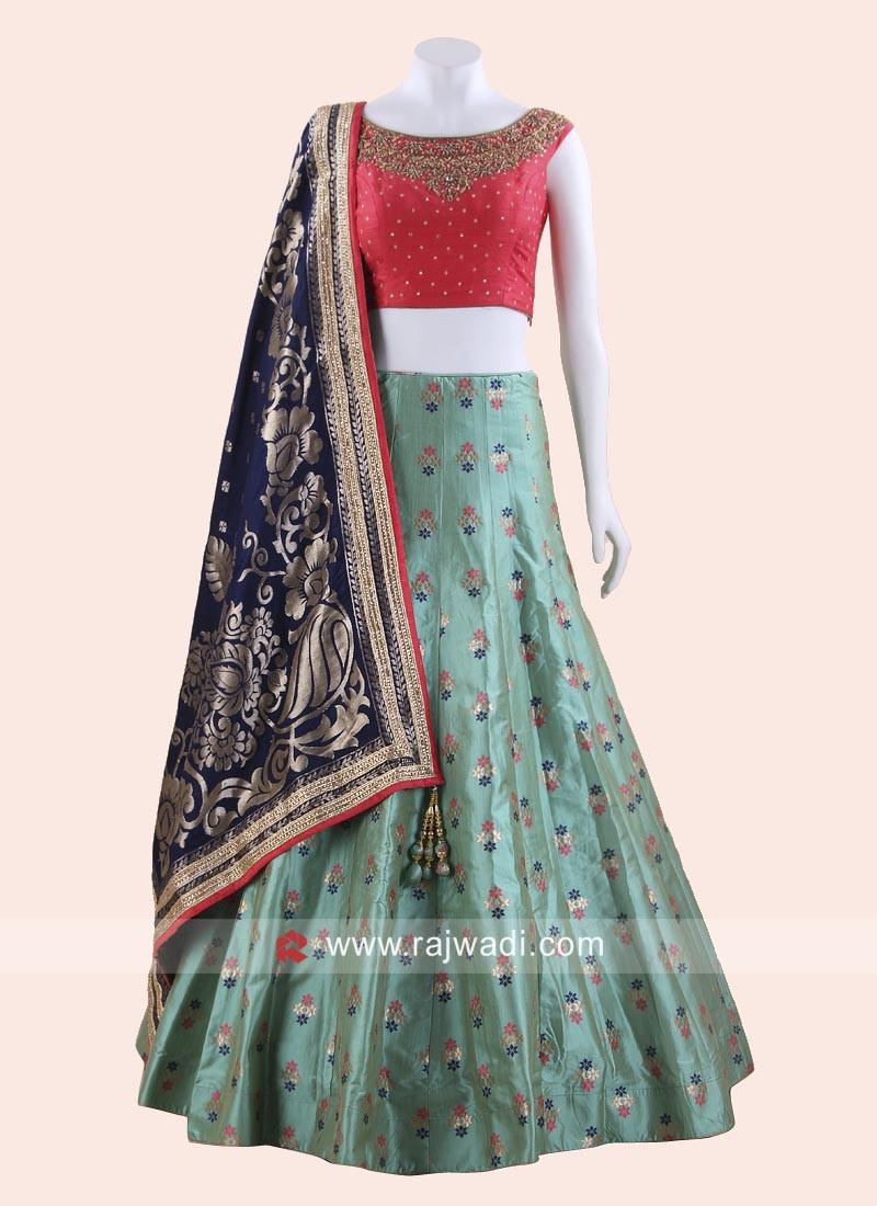 Embroidered Readymade Lehenga Choli