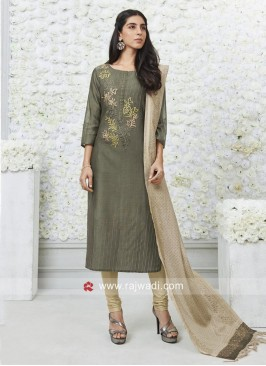 Embroidered Salwar Kameez with Dupatta